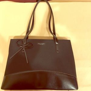 Vintage 1990's Kate Spade black bow handbag.